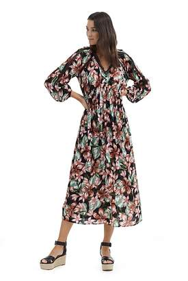 Country Road Hibiscus Print Maxi Dress