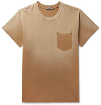 Billy Marshall Distressed Cotton-Jersey T-Shirt