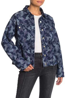 Wild Honey Camouflage Button Up Jacket