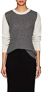 Barneys New York Women's Colorblocked Cashmere Sweater - Gray