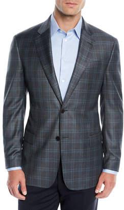 Emporio Armani Men's Wool Plaid Two-Button Jacket
