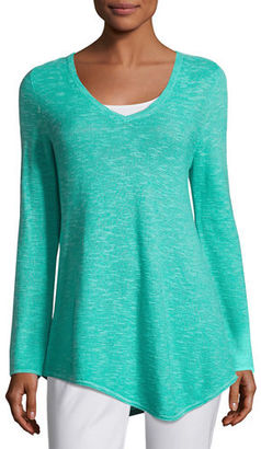 Eileen Fisher Long-Sleeve Organic Links Tunic $178 thestylecure.com