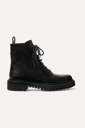 Valentino Garavani Logo-debossed Leather Ankle Boots - Black
