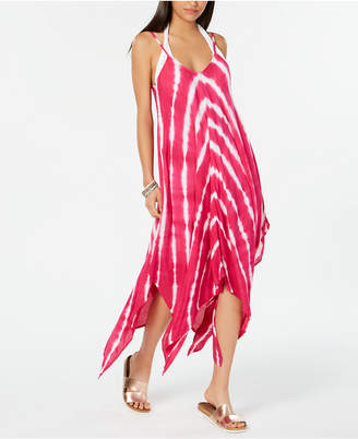 Raviya Tie-Dyed Handkerchief-Hem Dress Cover-Up Women Swimsuit