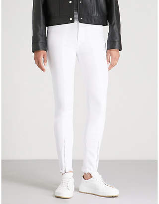Good American Zipped-hem high-rise skinny jeans