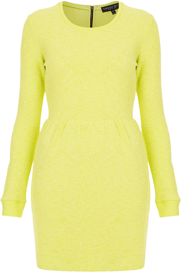 Topshop Petite Boucle Sweater Dress
