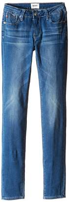 Hudson Dolly Skinny Five-Pocket Skinny Superstretch in Feather Blue Girl's Jeans