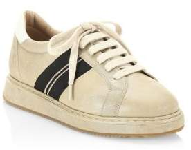 Brunello Cucinelli Shiny Leather Sneakers