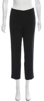 Michael Kors Crepe Mid-Rise Cropped Pants Black Crepe Mid-Rise Cropped Pants