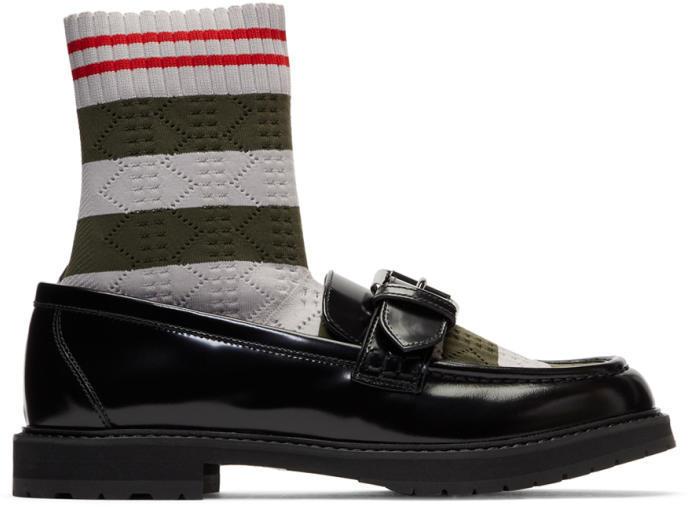 Fendi Black Scuba Sock Loafers