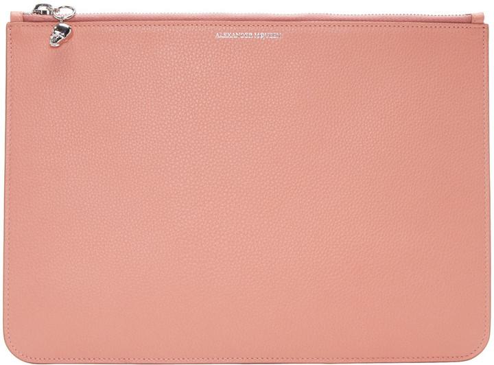 Alexander McQueenAlexander McQueen Pink Leather Pouch