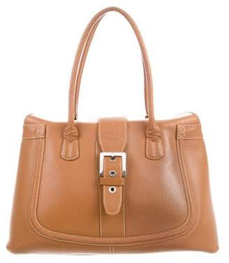 Tod's Grained Leather Tote Cognac Grained Leather Tote