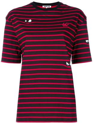 McQ striped patch T-shirt