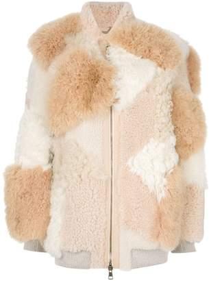 Chloé patchwork shearling jacket
