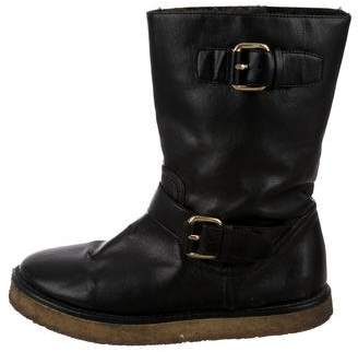 Stella McCartney Mid-Calf Round-Toe Boots