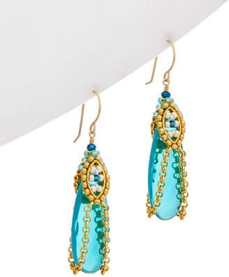 Miguel Ases 18K Plated & Gemstone Earrings