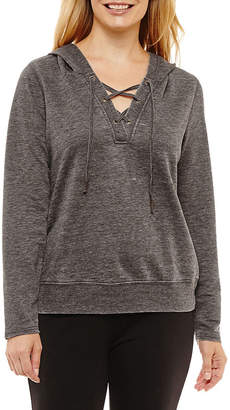 SJB ACTIVE St. John's Bay Active Long Sleeve French Terry Hoodie-Petites
