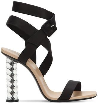Baccarat 105mm Crystal Heel Silk Sandals