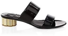Salvatore Ferragamo Women's Belluno Leather Two-Band Slide