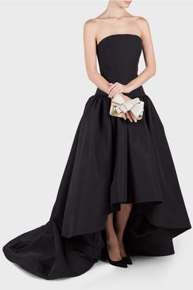 Christian Siriano Bustier Hi Low Gown