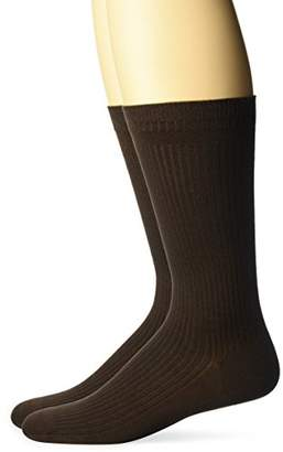 Dr. Scholl's Men's 2 Pack Everyday Non-Binding Flat Knit Crew Socks