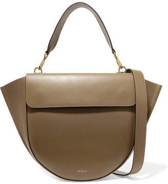 Hortensia Wandler Leather Shoulder Bag - Army green