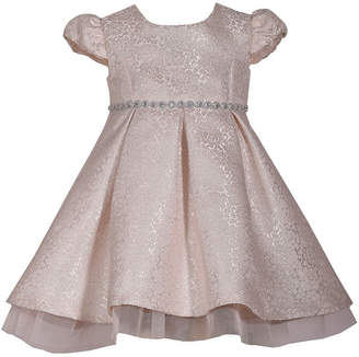 Bonnie Jean Short Sleeve Holiday A-Line Dress - Baby Girls