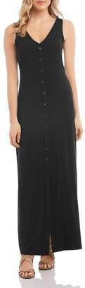 Karen Kane Alana Button-Front Maxi Dress