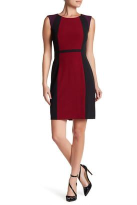 Tahari Sleeveless Colorblock Sheath Dress $128 thestylecure.com