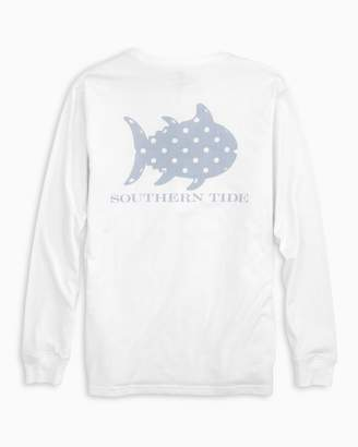 Southern Tide Polka Dot Skipjack Long Sleeve Pocket T-shirt