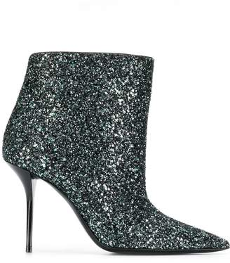 Saint Laurent glittered ankle boots