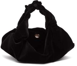 The Row Ascot Small Velvet Bag - Womens - Black