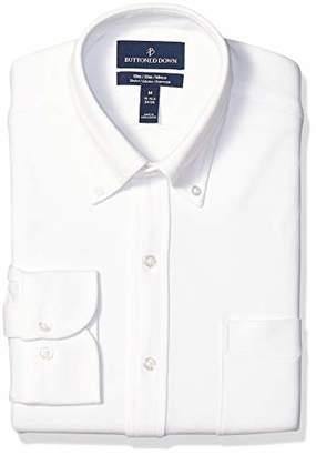 Buttoned Down Men's Slim Fit Supima Cotton Stretch Knit Dress Shirt