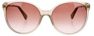 Diane von Furstenberg Acetate Oversize Gradient Sunglasses