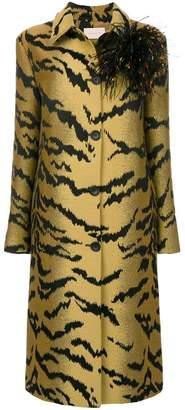 Christopher Kane tiger jacquard coat