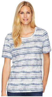 FDJ French Dressing Jeans Antique Stripe Short Sleeve Top Women's Clothing
