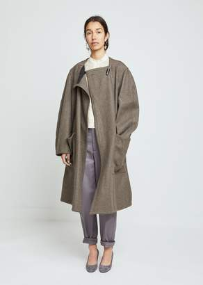 Lemaire Felted Wool Wrapover Coat