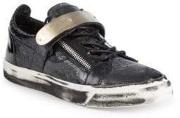 Giuseppe Zanotti Strap-Across Leather Sneakers