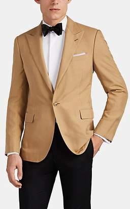 Ralph Lauren Purple Label Men's Slub Silk One-Button Sportcoat - Tan Pat.