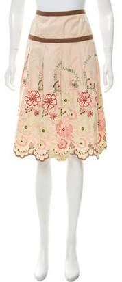 DAY Birger et Mikkelsen Embroidered Top-Stitch Pleat Skirt
