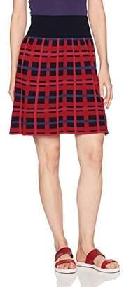 Lacoste Women's All-Over Jacquard Print Crepe Wool Skirt