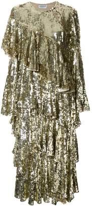 Osman embellished flared midi dress