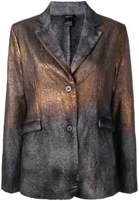 Avant Toi metallic sprayed detail blazer