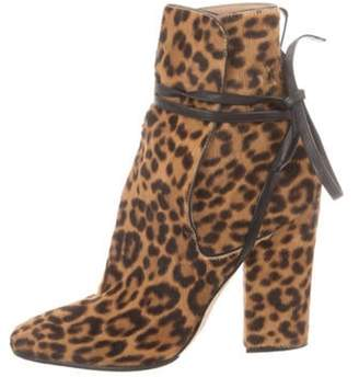 Sergio Rossi Ponyhair Ankle Boots Brown Ponyhair Ankle Boots