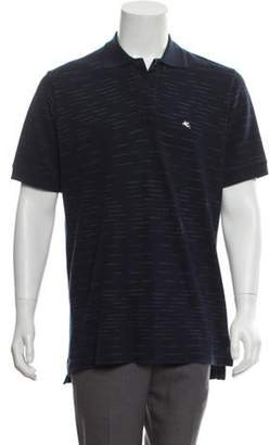 Etro Striped Polo Shirt navy Striped Polo Shirt