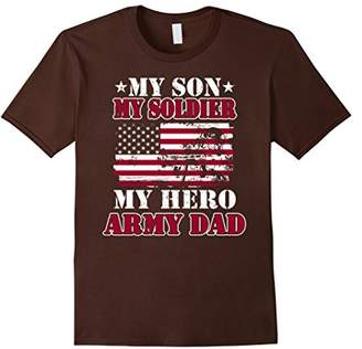 My Army Dad T-Shirt My Son-My Soldier-My Hero-US Soldier Tee