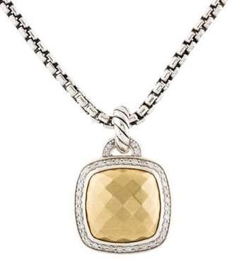 David Yurman Albion Diamond & Gold Dome Pendant Necklace