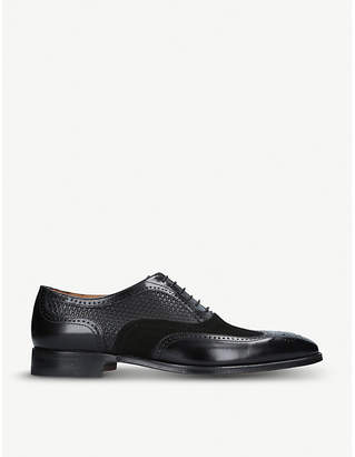 Stemar Woven mix leather and suede Oxford shoes