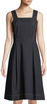 Lafayette 148 New York Isabelli Denim Fit-&-Flare Dress
