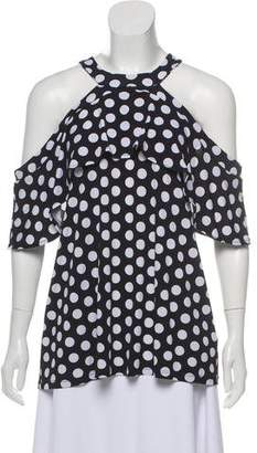 MICHAEL Michael Kors Polka- Dot Printed Top